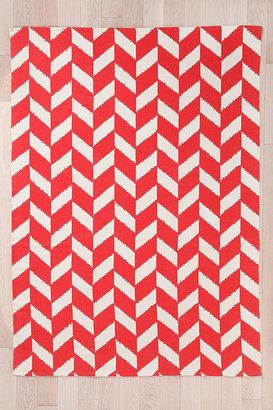 Red Herringbone 3x5 Rug
