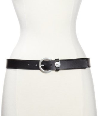 Nike Women's Swoosh Logo Disc Leather Belt