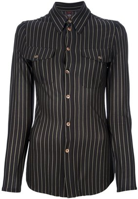 Jean Paul Gaultier Pre Owned Fitted Striped Shirt