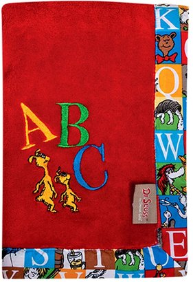 Trend Lab Dr. Seuss Alphabet Seuss Fleece Receiving Blanket