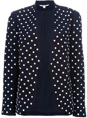 Diane von Furstenberg faux pearl studded blazer