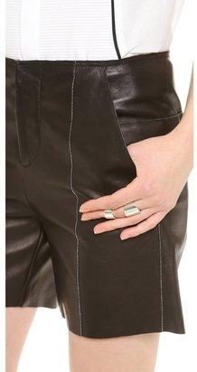 Maison Martin Margiela Leather Shorts