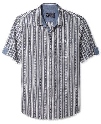 American Rag Shirt, Southwest Stripe Short Sleeve Shirt