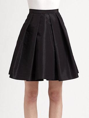 Pink Tartan Satin Tabitha Pleated Skirt