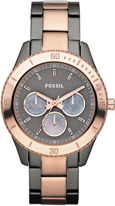 Fossil 'Stella' Two Tone Bracelet Watch, 37mm
