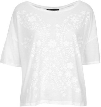 Topshop Petite Floral Placement Tee