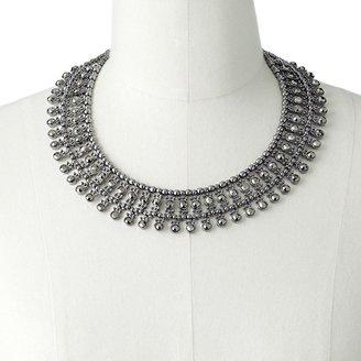 Dana Buchman jet marcasite bead collar necklace