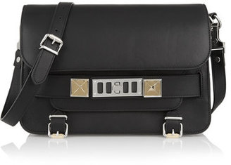 Proenza Schouler - The Ps11 Classic Textured-leather Shoulder Bag - Black $1,950 thestylecure.com