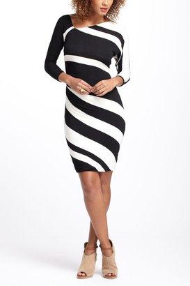 Anthropologie Ruched Stripes Column Dress