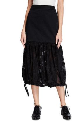Tibi Lana Fil Coupe Midi Skirt