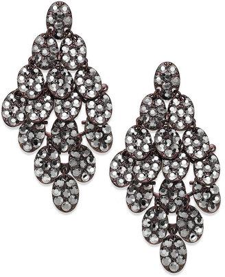 Coppertone Bar III Copper-Tone Hematite Stone Chandelier Earrings