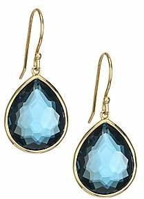 Ippolita Women's Rock Candy Gelato London Blue Topaz & 18K Yellow Gold Medium Teardrop Earrings