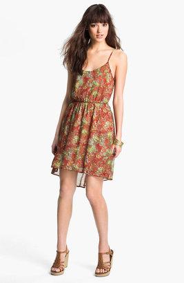 Lush Cutout Ruffle Chiffon Dress (Juniors)