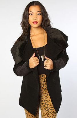 BB Dakota The Iren Faux Suede Shearling Coat