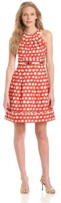 Eliza J Women's Halter Fit and Flare Dress