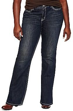 JCPenney a.n.a® Perfect Fit Embroidered Jeans - Plus