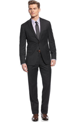 DKNY Suit, Charcoal Solid Slim Fit