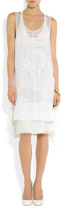 Emilio Pucci Silk-chiffon and embellished mesh dress