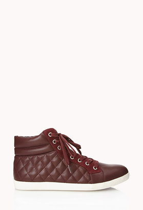 Forever 21 Quilted Faux Leather Sneakers