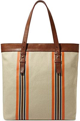Fossil Bag, Striped Utility Canvas Bag