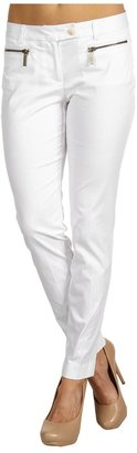 MICHAEL Michael Kors Zip Pocket Ankle Pant (White) - Apparel