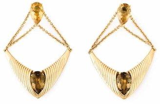 Shaun Leane 'Bound' champagne quartz earrings