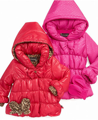 S Rothschild & CO S. Rothschild Kids Jacket, Little Girls Bow Puffer Coats
