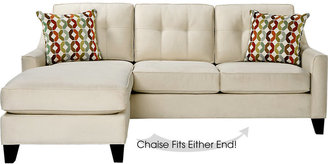 Cindy Crawford Cindy Crawford Home Madison Place Vanilla 2 Pc Sleeper Sectional