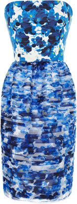 Prabal Gurung Printed Tiered Organza Dress