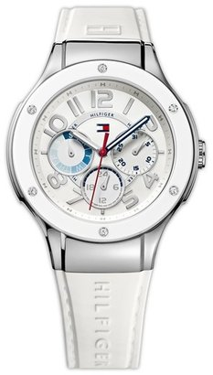 Tommy Hilfiger Multifunction Silicone Strap Watch, 39mm
