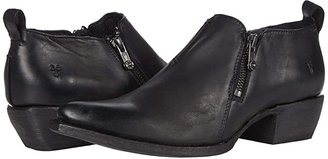 Frye Sacha Moto Shootie (Black 1) Women's Pull-on Boots