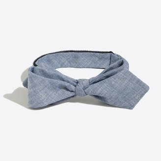Mercantile Faded chambray bow tie
