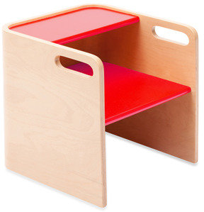 Bed Bath & Beyond Bloom® Pogo™ Kids 3-in-1 Step Stool in Natural/Rock Red