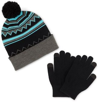 JCPenney Asstd National Brand Berkshire Pom Hat & Gloves Set - Boys