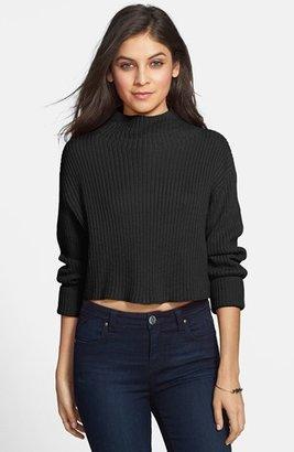BP Ribbed Mock Neck Crop Sweater (Juniors)