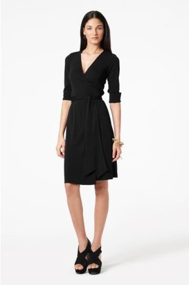 Diane von Furstenberg Julian Wrap Dress in Black