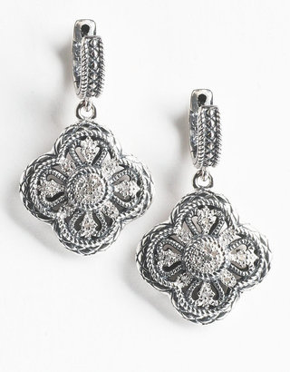 RICHLINE GROUP Sterling Silver Drop Earrings with Diamond Accents