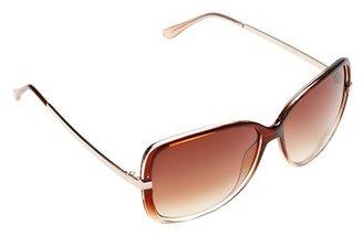 LOFT Square Metal Temple Sunglasses