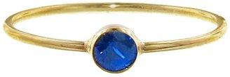Jennifer Meyer Tiny Blue Sapphire Ring - Yellow Gold
