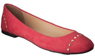 Merona Women's Manda Studded Ballet Flat - Red