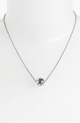 Lois Hill Bead Pendant Necklace Sterling Silver
