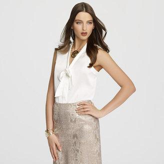 Anne Klein Platinum Front Tie Blouse