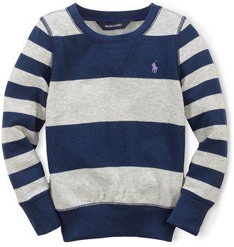 Ralph Lauren Girls 2-6x Fleece Crewneck Pullover