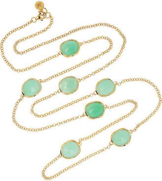 Monica Vinader Siren gold-plated chrysoprase necklace