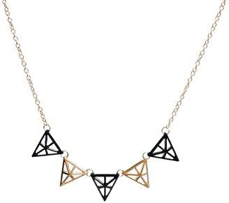 Ashiana 3D Triangle Charm Necklace