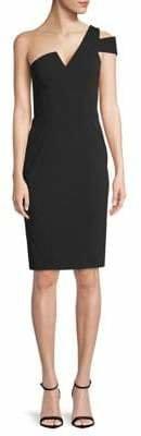 Betsy & Adam One-Shoulder Scuba Mini Dress