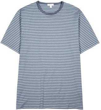 Sunspel Grey Striped Cotton T-shirt