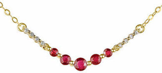 Tag Heuer FINE JEWELLERY Ruby and 14K Yellow Gold Necklace with 0.04 TCW Diamonds