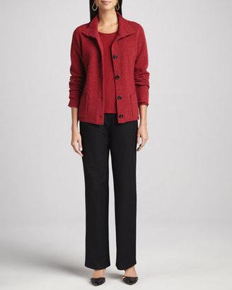 Eileen Fisher Melange Jewel-Neck Top, Women's
