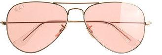 Ray-Ban original aviator sunglasses with polarized pink lenses